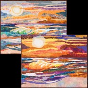 Popsicle Sunset, Creamsicle Dawn Quilts